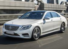 Аренда автомобиля Mercedes W222 белый в Спб внешний вид