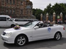 Прокат кабриолета Мерседес в Питере внешний вид2