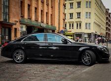 Представительный автомобиль Mercedes W222 в СПб черный внешний вид
