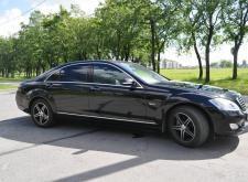 Представительный автомобиль Mercedes W222 в СПб черный