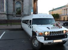 Прекрасный лимузин Hummer H2 ГиперСкрэтч в СПб внешний вид4