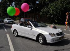 Прекрасный Mercedes Cabriolet на свадьбу в СПб внешний вид4